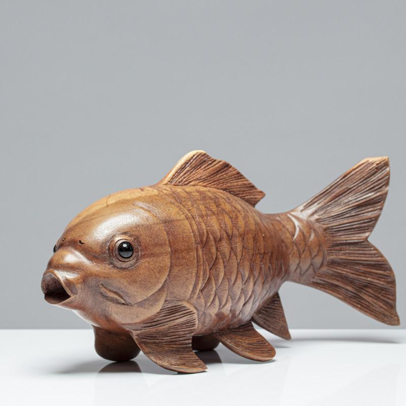 Holzskulptur Fisch