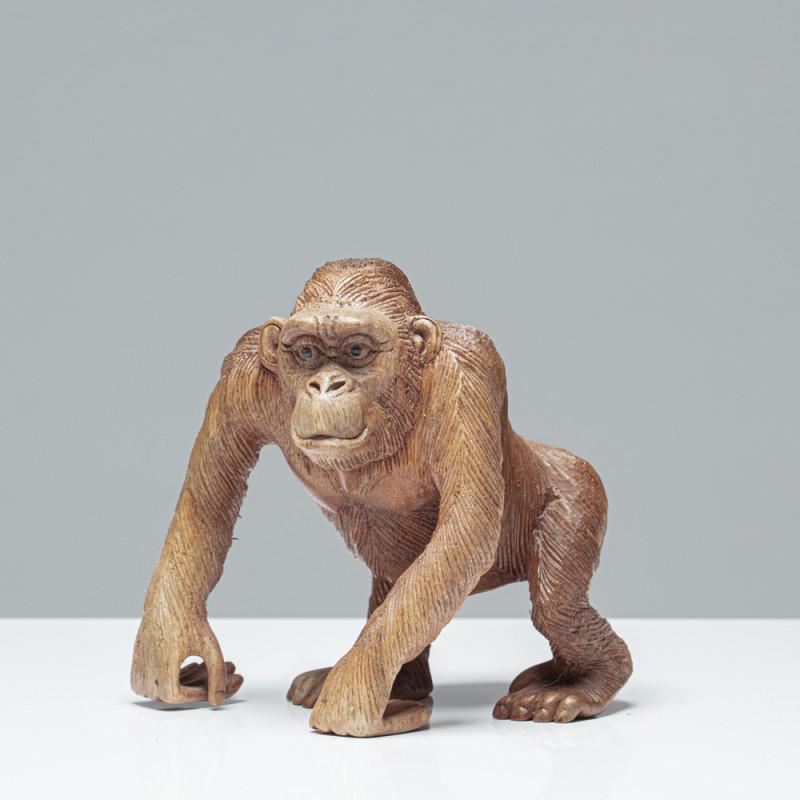 Junger Gorilla | Holzskulptur