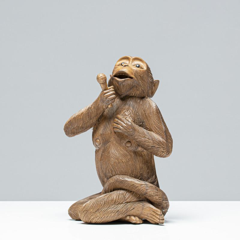 Sänger-Affe | Holzskulptur