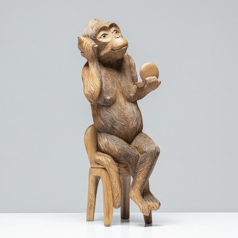 Lady-Affe | Holzskulptur