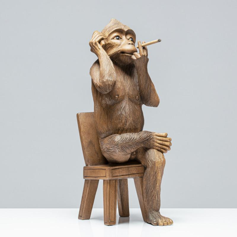 Gentleman-Affe | Holzskulptur