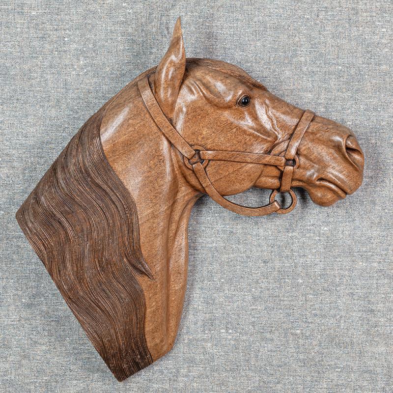 Wandrelief Pferdekopf rechts