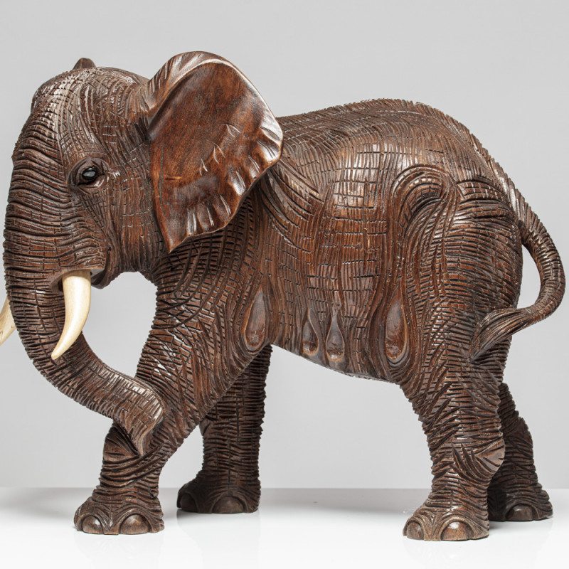 "Holzskulptur Elefant ""SOLIMAN"""