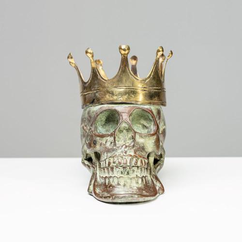 """Skulptur Schädel """"KING"""" aus..."""