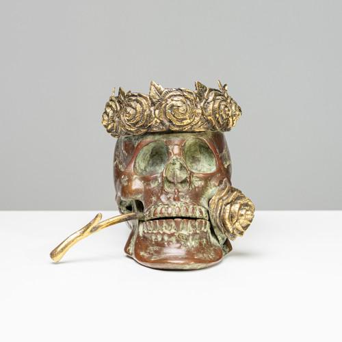 "Skulptur Totenkopf ""ROSE""..."