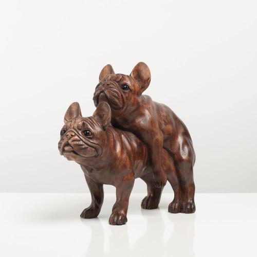 Skulptur Bulldogge paarend...