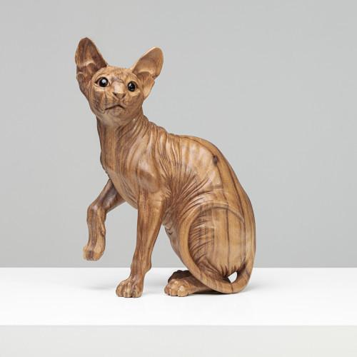 """Holzskulptur """"SPHYNX"""" Katze..."""