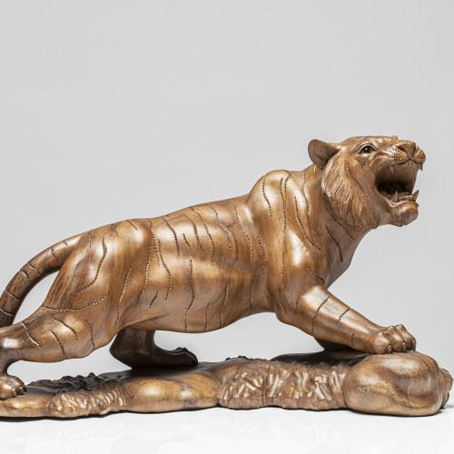 Holzskulptur Tiger | Vollholz