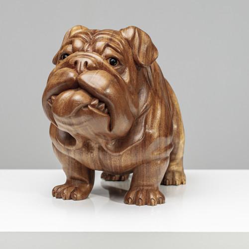 "Holzskulptur ""Bulldogge |..."