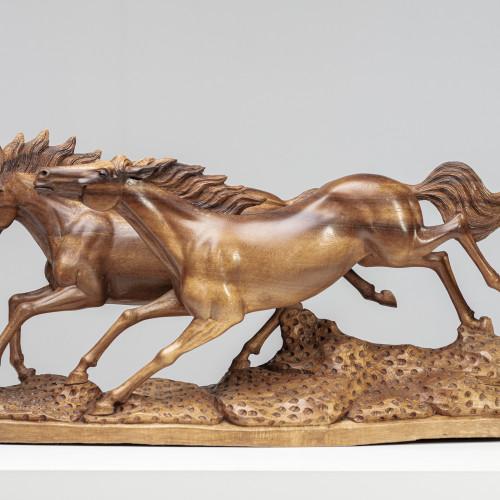 Skulptur Pferdepaar | Vollholz