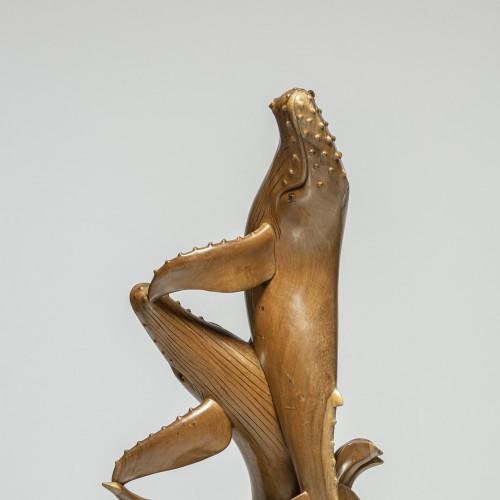 """Skulptur """"WALPAAR""""   Vollholz"""