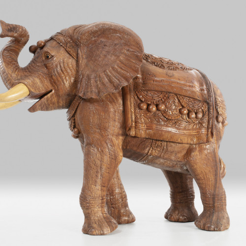 "Holzskulptur Elefant ""INDIA"""