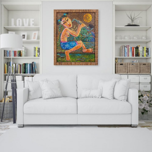 """Gemälde """"BALINESIN"""" mit..."""