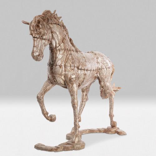 Lebensgroße Pferdeskulptur