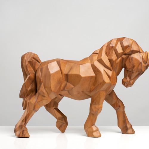 Kubistische Pferdeskulptur...