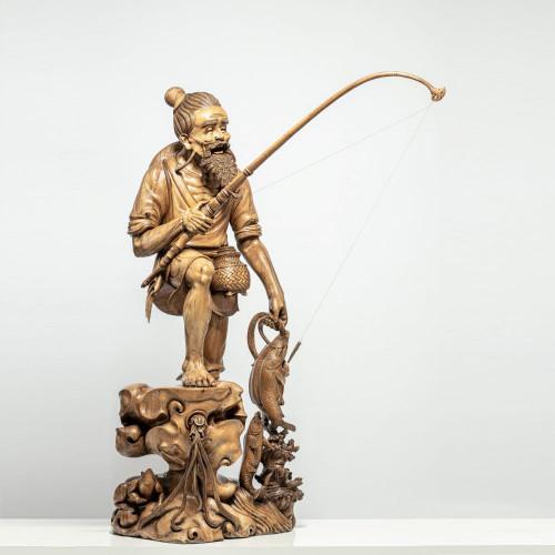 """Skulptur """"DER FISCHER"""""""
