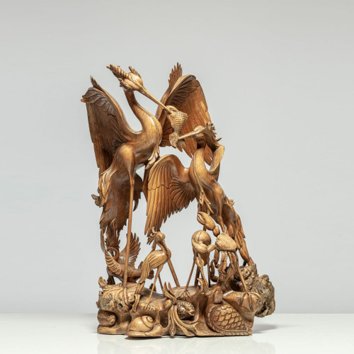 "Skulptur ""PFAUENMAHL"""