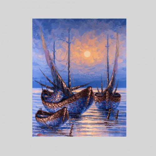 """Gemälde """"SONNENUNTERGANG"""""""