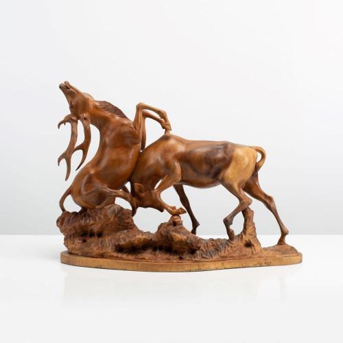 "Skulptur ""HIRSCHKAMPF"""