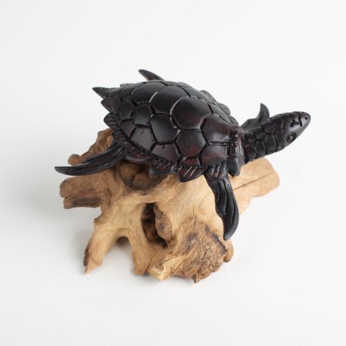 """Holzfigur """"Schildkröte auf..."""