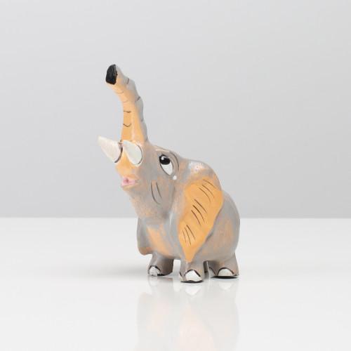 """Holzfigur """"Elefant"""" (Grau)"""