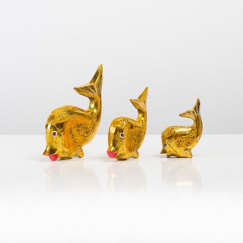 """Holzfigur """"Fisch"""" (Gold) im..."""